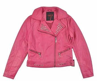 Amazon.com: Yoki Little Girls Fuchsia Faux Leather Jacket (4 ...