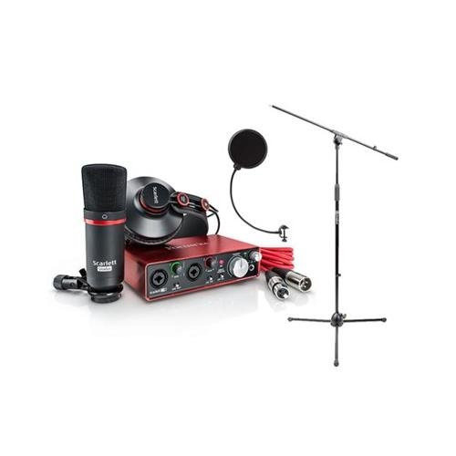 Focusrite Scarlett Studio Pack W Cm25 Microphone  Headphones  2I2  Code For Software Bundle Mic Cable  Boom Stand  And Pop Filter