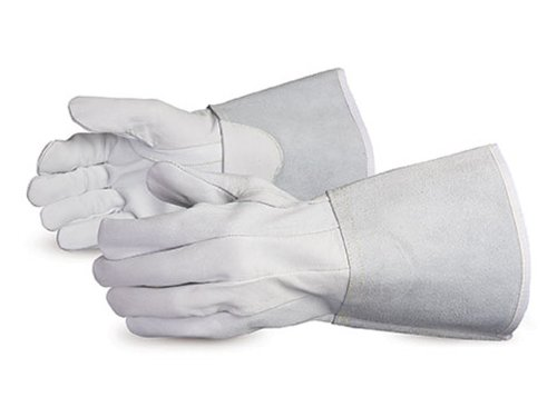Superior 335STIG Precision Arc Grain Sheepskin Leather TIG Welders Glove, Work, Medium, White (Pack of 1 Dozen) by Superior Glove (Image #1)