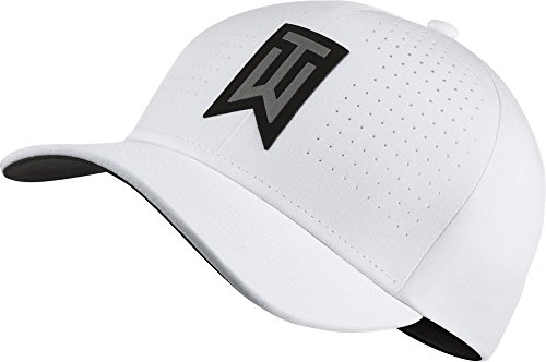 Woods TW AeroBill Classic99 Golf Hat White 845579 Size M/L ()