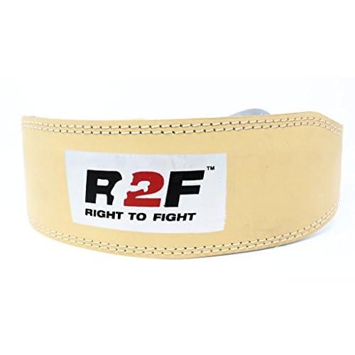 R2F Sports Poids Levage Ceinture Naturel Bruni Couleur Powerlifting Force Entraînement La Musculation Aptitude Exercice Ceinture