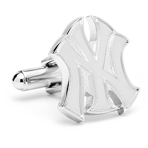 Silver New York Yankees Logo Cufflinks with New Collectible Gift Box