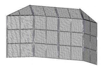 Prefabricated Baseball / Softball Backstop Measurements: Extra Heavy 20ft w x 15ft h / 2 (10ft) by SportsPlay