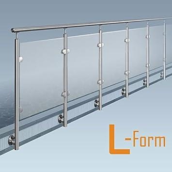 Glas Pfosten Gelander L Form 1x90 Ecke Bausatz Diy Seitliche