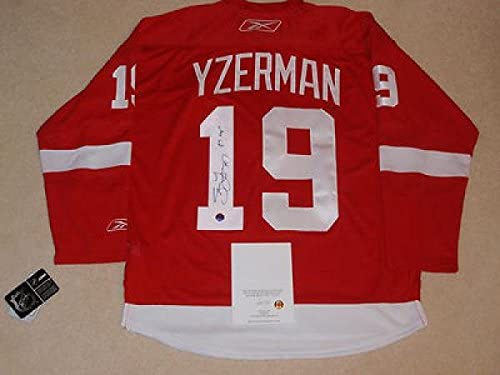 Signed Steve Yzerman Jersey - Wing Rbk 97 Cup Inscrp Stevie Y Auth ...
