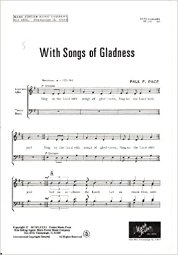 Download online With Songs of Gladness - Sheet Music SATB a capella (MF-219) PDF, azw (Kindle)