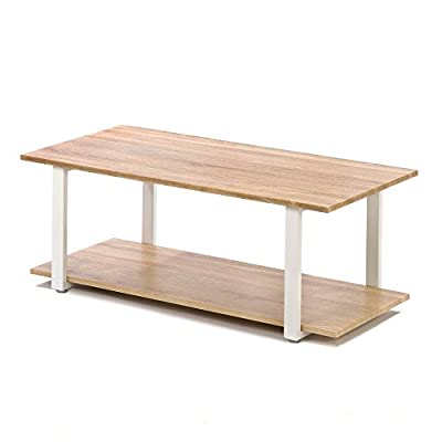 Home Locomotion Contemporary Cottage Coffee Table - Modern Design - Perfect for Your Home - Lightweight & Strong -  - living-room-furniture, living-room, coffee-tables - 41xP0qIOtxL. SS400  -