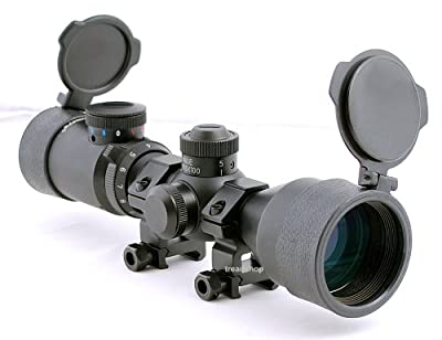 Hammers Illuminated Riflescope Compact Short Rifle Scope BDC 3-9x42GDT w/ weaver Rings from Hammers