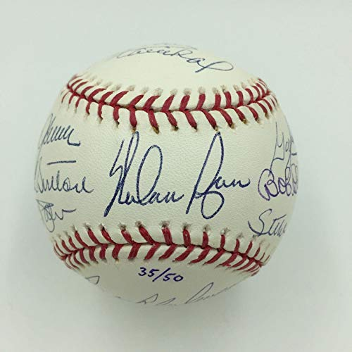 Beautiful 50 Shutouts Club Signed Baseball Nolan Ryan Tom Seaver Bob Gibson - JSA Certified - Autographed Baseballs