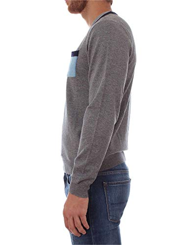 Gris Medio SUN68 K28127 Hombre Camiseta awBq7