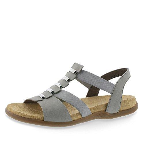 910829 Rieker sandalette Nebel 9 Damen Grau txqwOHRx