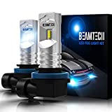 BEAMTECH H11 Led Fog Light Bulb, CSP Chips 6500K 800 Lumens Xenon White Extremely Super Bright