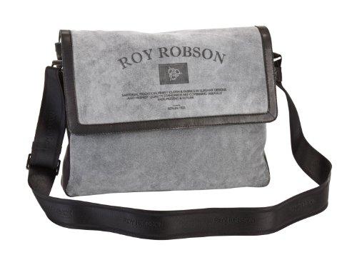 Roy Robson Storyboard bolso bandolera piel 37 cm schwarz-grau