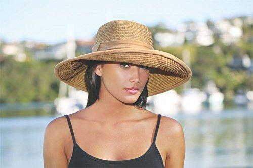 Wallaroo Women's Celeste Sun Hat - 100% Paper Braid - UPF50+, Natural