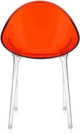 Kartell Mr.Impossible Fauteuil Transparent Rouge orangé
