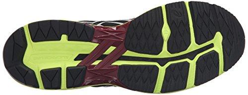 Asics Mens Gt-2000 4 Hardloopschoen Mid Grijs / Zwart / Gele Veiligheid