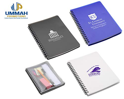 150 Personalized Hardcover Notebook With Pouch Printed With Your Logo Or Message by Ummah Promotions (Image #5)