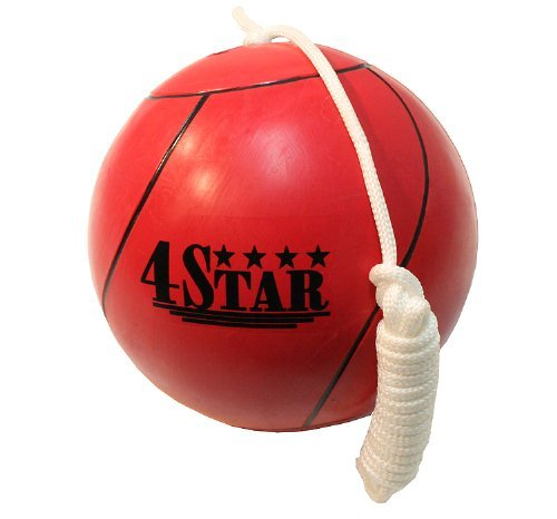 New RED Color Tether Balls for Play Grounds & Picnics Included With Ropes