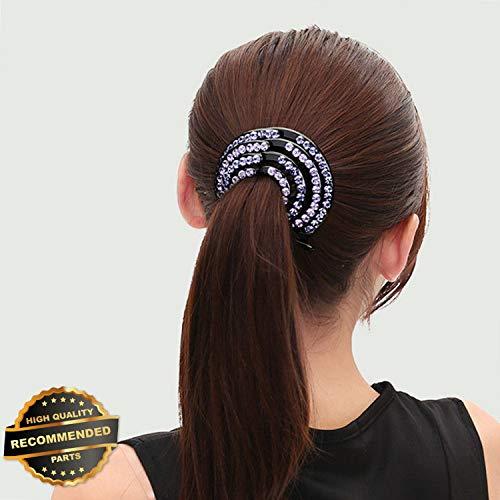 Gatton Premium New Fashion Women Ladies Hair Clip Pin Crystal Hairpin Hair Bun Ponytail Holders | Style HRCL-M182012276