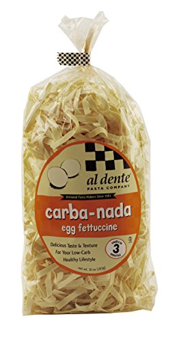 Al Dente Carba-Nada Egg Fettuccine, 10-Ounce Bags (Pack of 6) ()