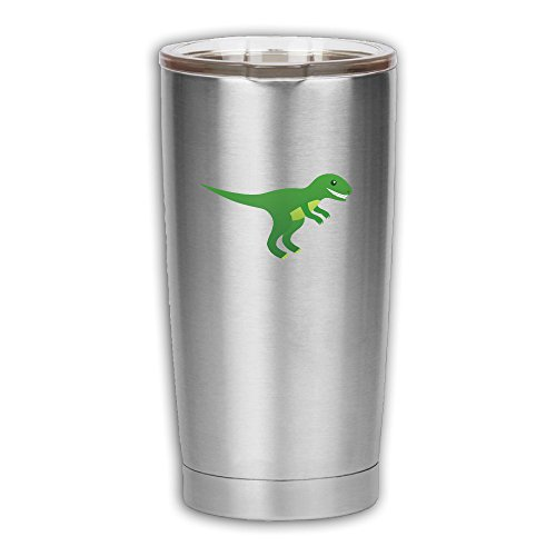 Inflatable Dinosaur Costume Running (Cartoon Dinosaur Stainless Steel Vacuum Insulation Travel Mug For Home,Office,School - Works Great For Ice Drink, Hot Beverage)