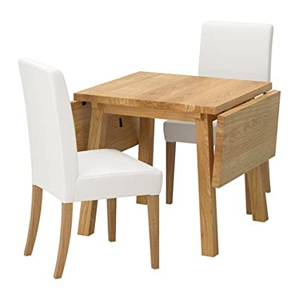 Remarkable Amazon Com Ikea Table And 2 Chairs Oak Grasbo White Ibusinesslaw Wood Chair Design Ideas Ibusinesslaworg