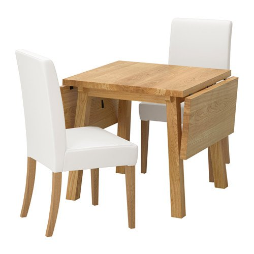 Ikea Table and 2 chairs, oak, Gräsbo white 4204.292320.346