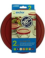 Anchor Hocking 30% Stronger Replacement Lid 2 x 7 Cup / 1.7 L / 1.75 qt, Red, Round, Improved