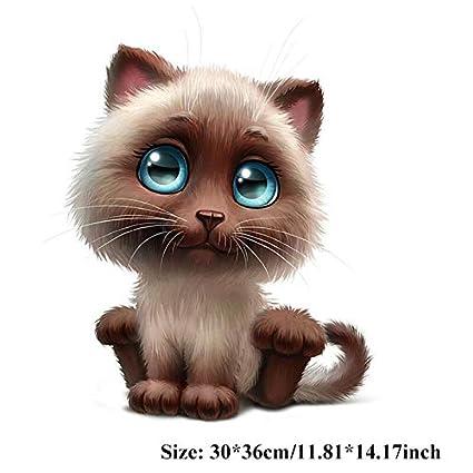 Kawaii Divertido Gato de Dibujos Animados Patrón Pegatinas Ventana del Coche Calcomanías de Limpiaparabrisas Parabrisas Car
