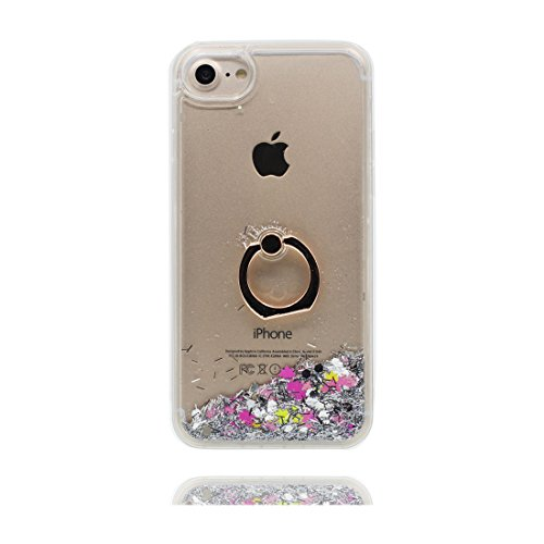 "Coque iPhone 6, iPhone 6s étui Cover (4.7 pouces), [Bling Bling Glitter Fluide Liquide Sparkles Sables] iPhone 6 Case (4.7""), Hard Shell Ring Stand Ring Holder anti- chocs & stylet"