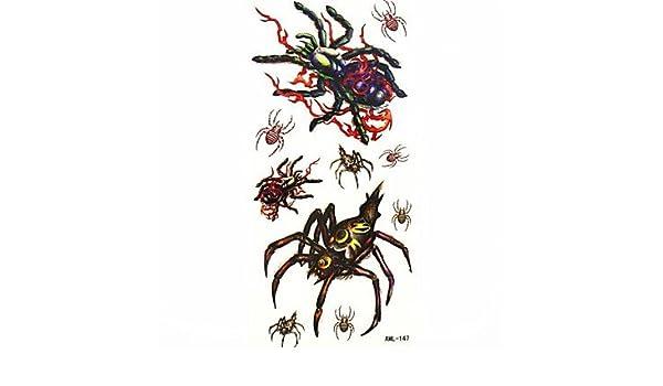 OOFAYZBL® araña impermeable tatuaje temporal molde muestra ...
