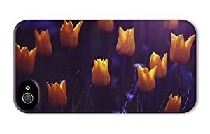 Hipster durable iPhone 4 covers shining yellow tulips PC 3D for Apple iPhone 4/4S