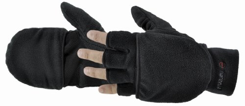 Manzella Men's Cascade Convertible Gloves (Black, X-Large)