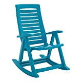 BrylaneHome Foldable Rocking Chair (Aqua,0)
