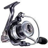 Carretes de Pesca Ligero - Rodamientos de Acero Inoxidable 13+1, Resistencia Máxima de Freno 25.8LBs, Spinning Reel Super Suave de, Relación de transmisión:5.2: 1, para Agua de Mar y Agua Dulce