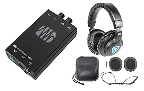 Presonus HP2 2 Channel Headphone Amplifier System HP-2+Free DJ Headphones by PreSonus