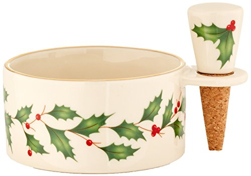Lenox Holiday Wine Coaster & Stopper Set - Lenox Christmas Gifts
