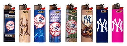New York Yankees Bic Lighters New 2017 Designs MLB Officially Licensed (Yankees 8pk) ()