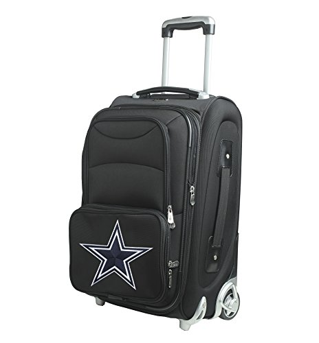 NFL Dallas Cowboys In-Line Skate Wheel Carry-On Luggage, 21-Inch, Black