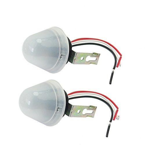 2X Auto Sensor Interruptor Crepuscular Luz Control 220V 10A para Farolas Calle: Amazon.es: Bricolaje y herramientas