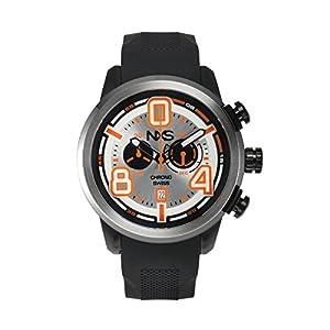 NXS Men's 'Pastrana' Swiss Ronda 5021.D Textured Silicone Watch(Model: 62625372)