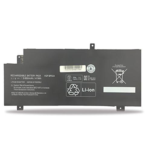Emaks VGP-BPL34 Battery BPS34 for Sony Vaio SVF14A15CXB SVF14AC1QL SVF14AC1QU SVF14A14CXP SVF14A14CXS SVF14A15CXP SVF14A14CXB - 11.1V 3650mAh/41Wh
