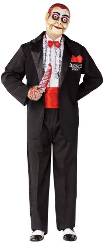 Scary Ventriloquist Dummy Costumes - Demented Dummy Ventriloquist Adult Costume -