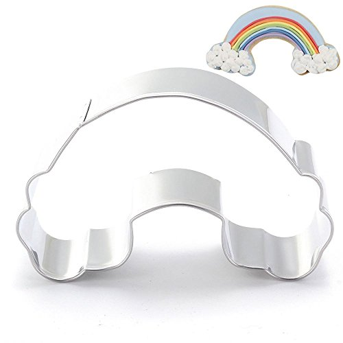Ainest Stainless Steel Cookie Cutter Cake Craft Biscuit Pastry Mold Baking DIY Tools Rainbow (Continents Cookie Cutters)