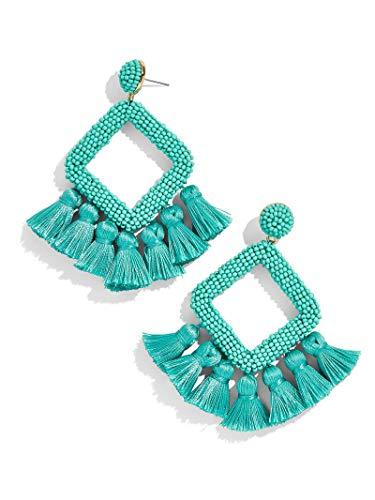 BEST LADY Tassel Earrings for Women - Statement Handmade Dangle Fringe Earrings for Women, Idea Gift for Sister, Wife and Friends (Mint)
