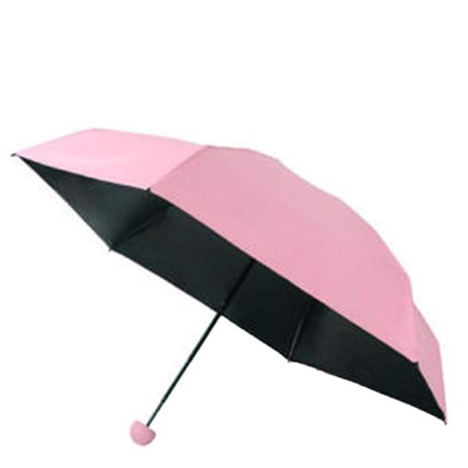 DEESEE(TM) - Paraguas compacto de bolsillo pequeño con ...