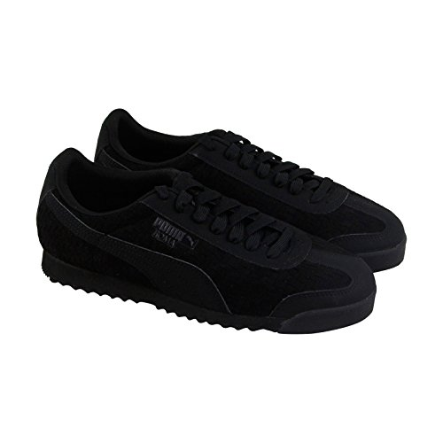 (PUMA Roma Weave Update Mens Black Suede Lace up Sneakers Shoes 9)
