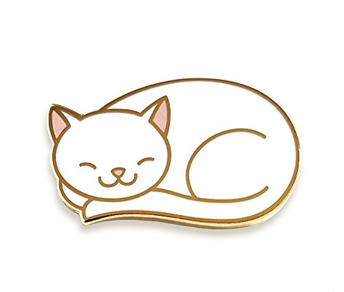 Enamel Cat Pin (Pinsanity Cute Sleeping Cat Enamel Lapel Pin)