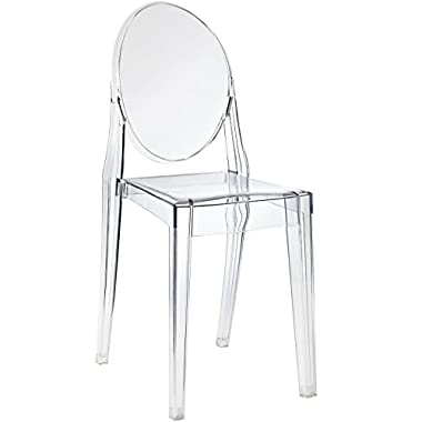 LexMod Casper Dining Side Chair Clear