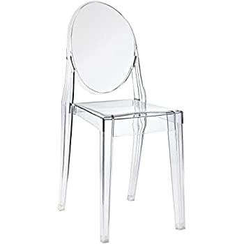 Modway Casper Modern Acrylic Dining Side Chair in Clear
